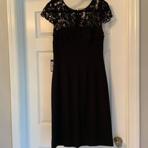 Cinched waist lace top dress
